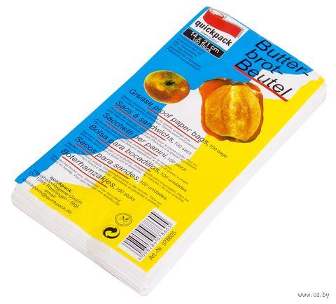 Набор пакетов бумажных жиронепроницаемых (100 шт.) — фото, картинка
