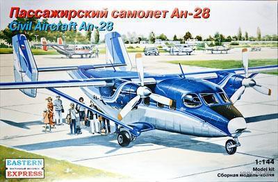 """Пассажирский самолет Ан-28 """"Регион Авиа"""" (масштаб: 1/144)"""