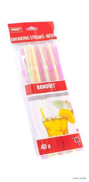 Набор соломок для питья пластмассовых (40 шт.; 21 см; арт. 4470007N)