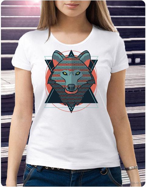 "Футболка женская ""Волк"" (размер 50; арт. 28) — фото, картинка"