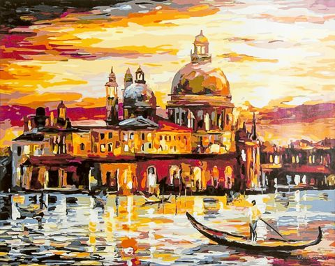 "Картина по номерам ""Золотое небо Венеции"" (400х500 мм; арт. PC4050078) — фото, картинка"