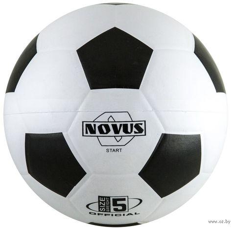 """Мяч футбольный Novus """"Start"""" №5 (бело-чёрный) — фото, картинка"""