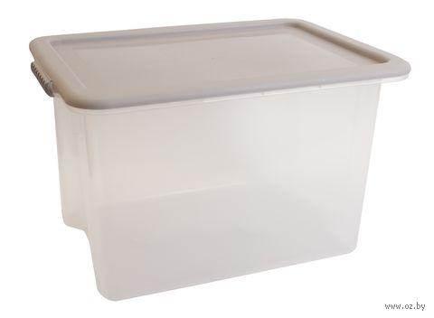 """Ящик для хранения с крышкой """"Porter"""" (21 л; дымчато-серая) — фото, картинка"""