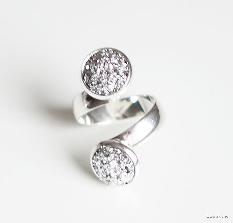 "Кольцо ""Серебряная друза"" (двойное) — фото, картинка"