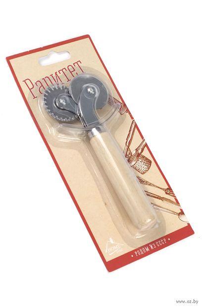 Нож для пиццы с деревянной ручкой (155 мм)