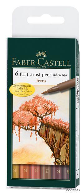 """Набор ручек-линеров капиллярных """"Pitt Artist Pen"""" (6 шт.; оттенки коричневого)"""