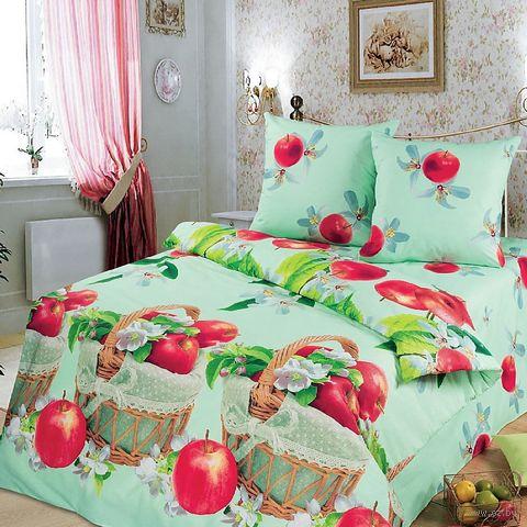 """Постельное белье """"Наливные яблочки"""" (двуспальное с европростыней) — фото, картинка"""