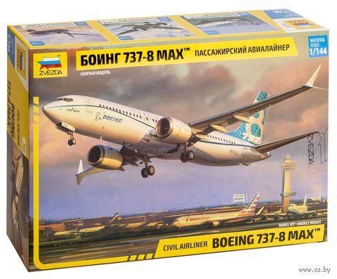 Пассажирский авиалайнер Боинг 737-8 MAX (масштаб: 1/144) — фото, картинка
