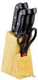 Набор ножей в деревянной подставке (5 шт.; арт. MS-11K121)