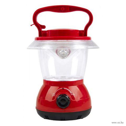 Аккумуляторный кемпинговый фонарь 12 LED (красный) — фото, картинка
