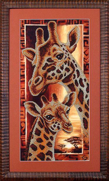 """Вышивка бисером """"Африка. Жирафы"""" (220х460 мм) — фото, картинка"""