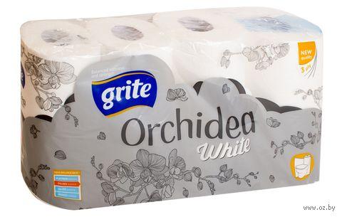 """Туалетная бумага """"White Orchidea"""" (8 рулонов) — фото, картинка"""