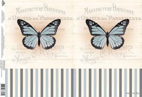 "Бумага для декупажа рисовая ""Бабочки"" №10 (210х300 мм; AM400409) — фото, картинка"