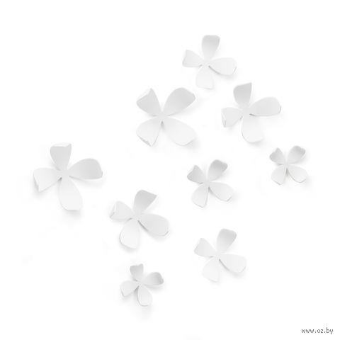 "Набор наклеек на стену ""Wallflower"" (10 шт.; белый) — фото, картинка"
