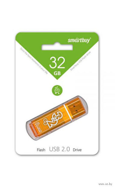 USB Flash Drive 32Gb SmartBuy Glossy series (Orange)