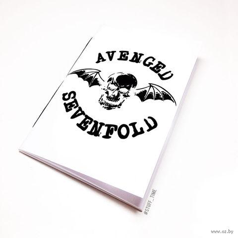"Блокнот белый ""Avenged Sevenfold"" А5 (043)"