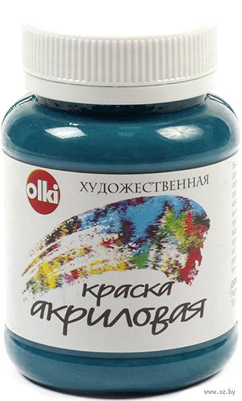 Краска акриловая (аквамарин, 100 мл)