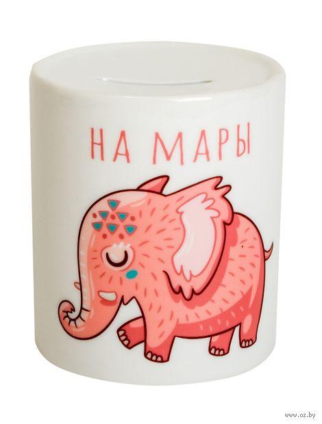 """Копилка """"Розовый слон"""" (198)"""