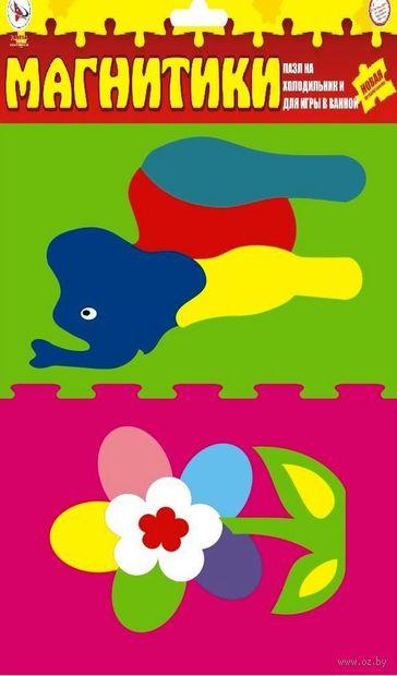 "Рамка-вкладыш ""Слон + Цветок"" — фото, картинка"