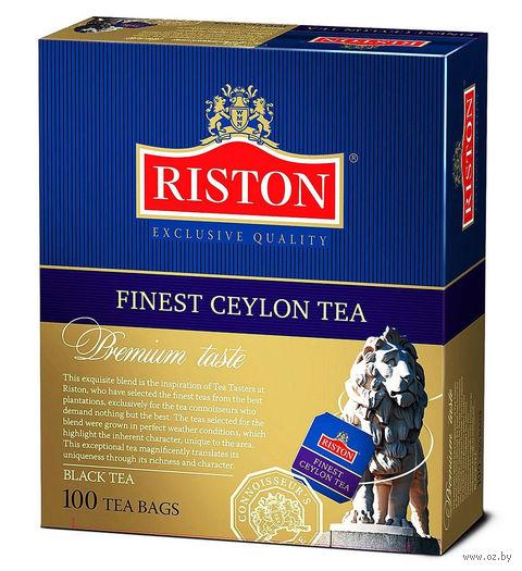 """Чай черный """"Riston. Finest Ceylon"""" (100 пакетиков) — фото, картинка"""