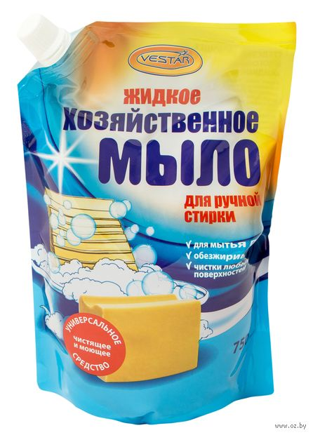"""Хозяйственное мыло """"Жидкое"""" (750 мл) — фото, картинка"""