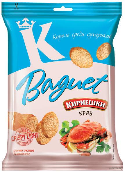 """Сухарики пшеничные """"Baguet. Краб"""" (50 г) — фото, картинка"""