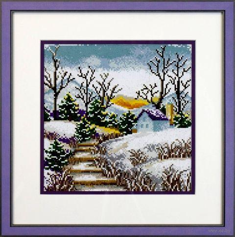 "Алмазная вышивка-мозаика ""Зима"" (350х350 мм) — фото, картинка"