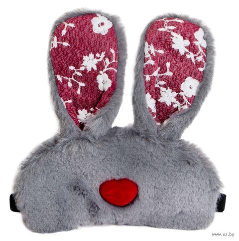 """Маска для сна """"Bunny heart"""" (серая) — фото, картинка"""