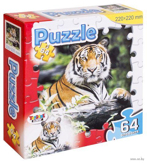 """Пазл """"Тигр"""" (64 элемента) — фото, картинка"""