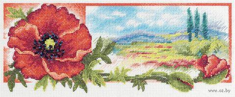 """Вышивка крестом """"Красный цвет утренней зари"""" (270х110 мм) — фото, картинка"""