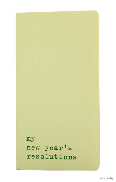 "Записная книжка Молескин ""Chapter. My New Years Resolutions"" в линейку (95х180 мм; светло-зеленая)"