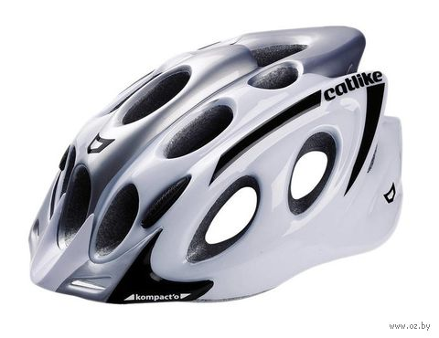 """Шлем велосипедный """"Kompakt'o"""" (L; бело-серый) — фото, картинка"""