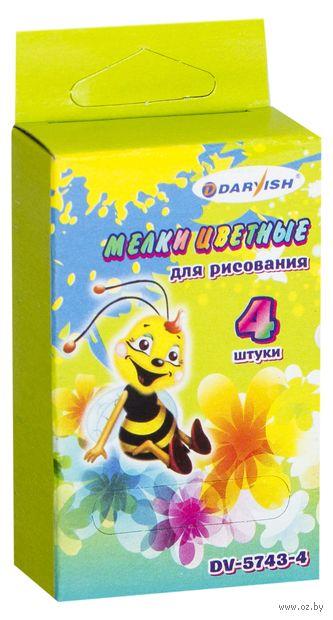 """Мелки цветные """"Пчелка"""" (4 цвета) — фото, картинка"""