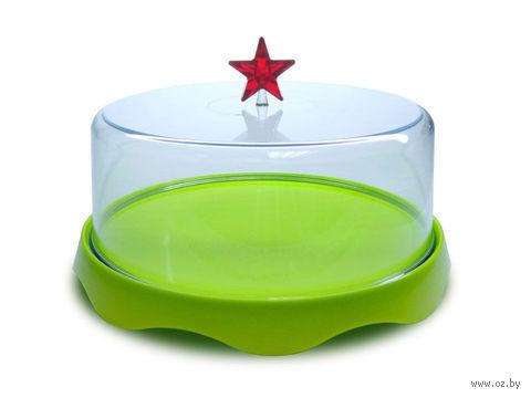 """Подставка для торта подарочная """"Merry Tray"""" (средняя; зеленая)"""