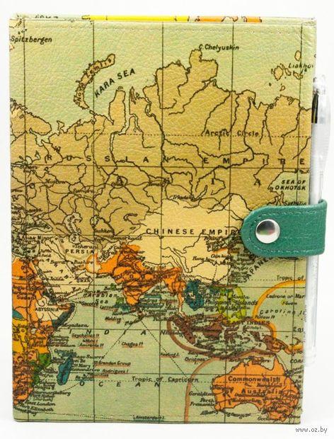 """Блокнот """"Карта мира"""" (А5; черная бумага)"""