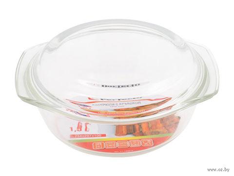 Кастрюля стеклянная с крышкой (1,5 л) — фото, картинка