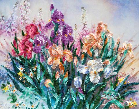 """Вышивка бисером """"Утро в саду"""" (350х270 мм) — фото, картинка"""