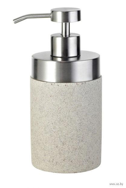 """Дозатор для жидкого мыла """"Stone"""" (300 мл; бежевый) — фото, картинка"""