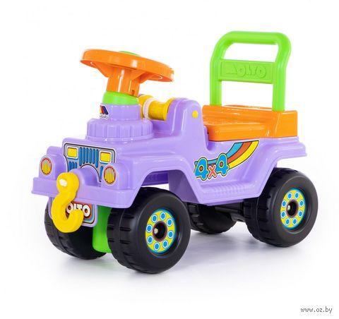 """Автомобиль-каталка """"Джип 4х4"""" (со звуковыми эффектами; арт. 62802) — фото, картинка"""