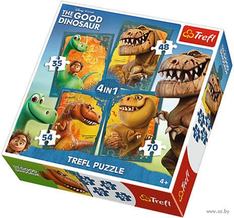 """Набор пазлов """"Дисней. Хороший динозавр."""" (35+48+54+70 элементов) — фото, картинка"""