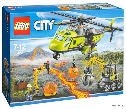 """LEGO City """"Грузовой вертолет исследователей вулканов"""" — фото, картинка"""