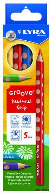 "Цветные карандаши ""GROOVE"" (5 цветов)"