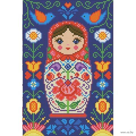 """Алмазная вышивка-мозаика """"Матрешка в цветах"""""""