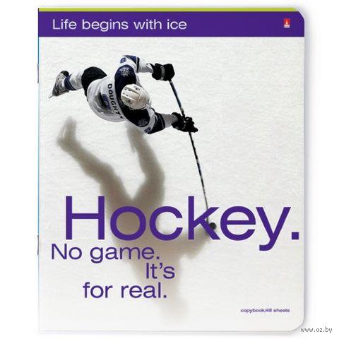 """Тетрадь полуобщая в клетку """"Хоккей"""" (48 листов; в ассортименте) — фото, картинка"""