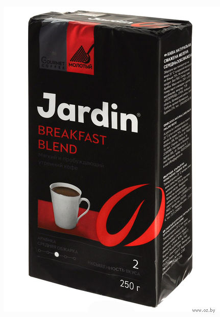 "Кофе молотый ""Jardin. Breakfast Blend"" (250 г) — фото, картинка"