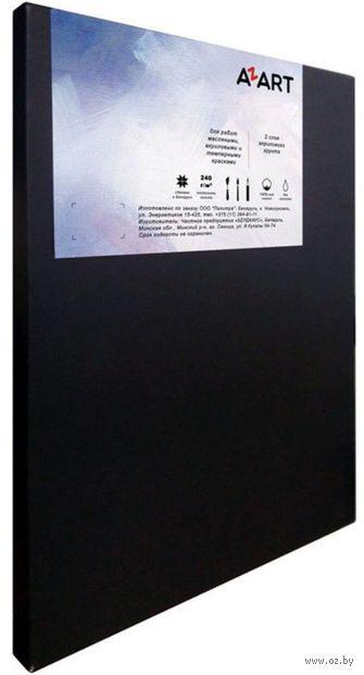 """Холст на подрамнике """"AZART"""" (30х30 см; чёрный; акриловый грунт) — фото, картинка"""