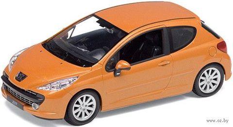 "Модель машины ""Welly. Peugeot 207"" (масштаб: 1/24) — фото, картинка"
