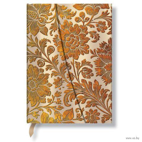 "Записная книжка Paperblanks ""Медовые цветы"" в линейку (формат: 180*230 мм, ультра)"