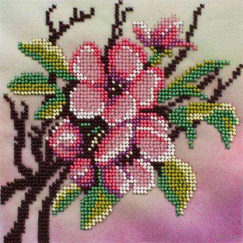"Вышивка бисером ""Сакура"" (150х150 мм) — фото, картинка"
