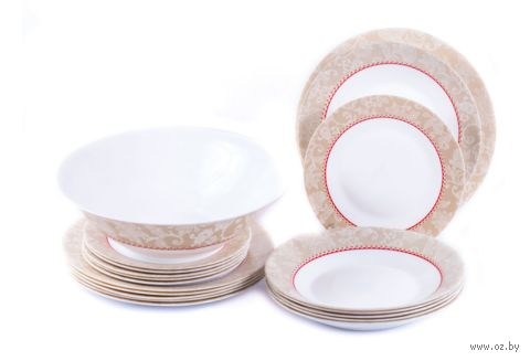 """Набор тарелок """"Episodia"""" (19 шт.) — фото, картинка"""
